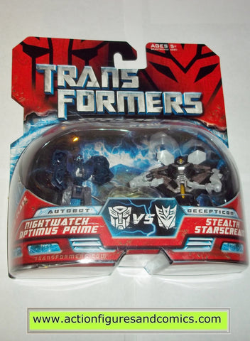 Transformers movie NIGHTWATCH OPTIMUS PRIME STARSCREAM STEALTH legends action figures moc mip mib