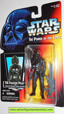 star wars action figures TIE FIGHTER PILOT .01 warning printed power of the force moc