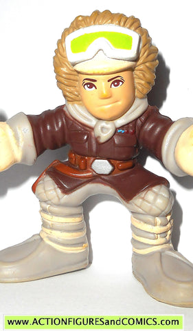 STAR WARS galactic heroes HAN SOLO HOTH outfit gear brown pvc action figure