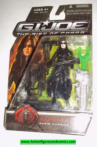 gi joe BARONESS 2009 paris pursuit v14 rise of Cobra movie series moc mip mib action figures
