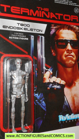 Reaction figures Terminator T800 ENDOSKELETON silver movie action moc