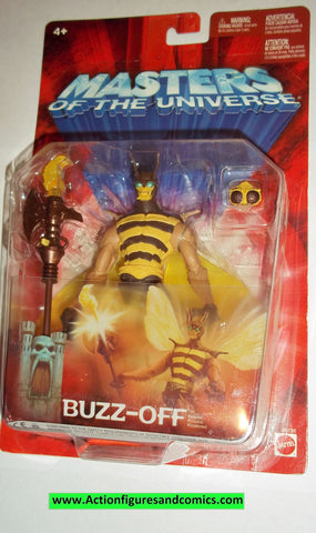 masters of the universe BUZZ OFF 2002 CHASE variant moc mip mib motu action figures
