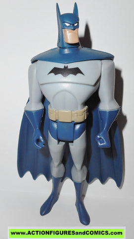 justice league unlimited BATMAN version light grey suit dark blue cape