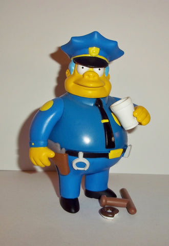 Simpsons CHIEF WIGGUM 2000 series 2 cop police man wos action figures complete