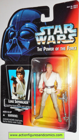 star wars action figures LUKE SKYWALKER short saber .00 power of the force toys moc