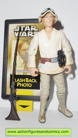 star wars action figures LUKE SKYWALKER 1998 flashback card power of the force potf