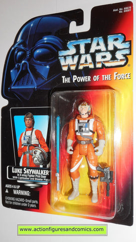 star wars action figures LUKE SKYWALKER X-WING FIGHTER PILOT GEAR power of the force hasbro toys