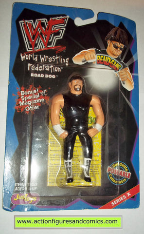 Wrestling WWF action figures ROAD DOGG JESSE JAMES bend-ems justoys moc mip mib