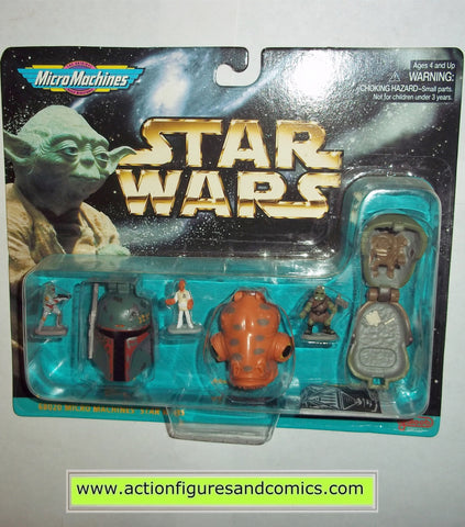 star wars micro machines BOBA FETT HEAD ADMIRAL ACKBAR GAMORREAN GUARD galoob hasbro toys moc mip mib