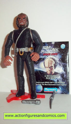 Star Trek WORF starfleet rescue uniform playmates toys action figures