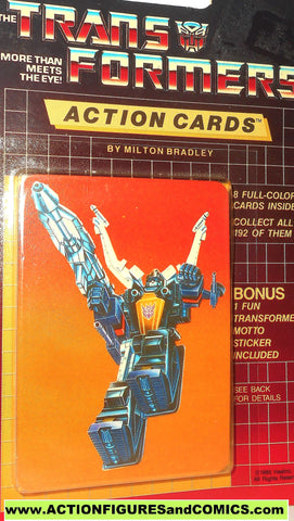 Transformers action cards INSECTICON SHRAPNEL insect bug trading card 1985