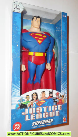 justice league unlimited SUPERMAN 10 INCH 2003 dc universe action figures moc mib