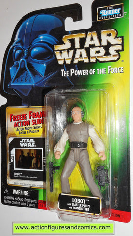star wars action figures LOBOT power of the force hasbro toys moc