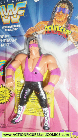 Wrestling WWF action figures BRET HITMAN HART 1994 bend-ems justoys WWE moc