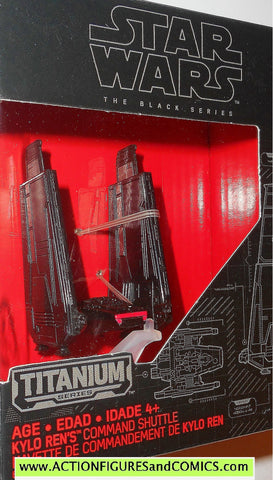 star wars titanium KYLO REN's COMMAND SHUTTLE the black series 2015 03 3 moc mib