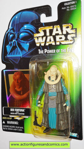 star wars action figures BIB FORTUNA .00 power of the force hasbro toys moc