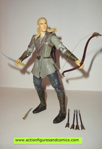 Lord of the Rings LEGOLAS dagger throwing arrow launching toy biz complete hobbit