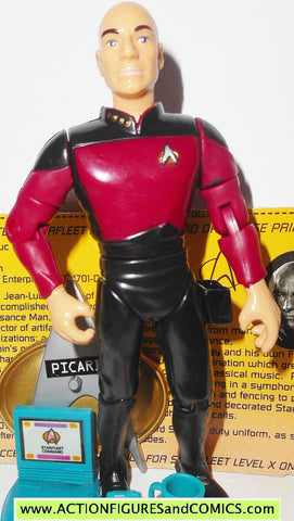 Star Trek CAPTAIN PICARD duty uniform 1994 playmates toys action figure
