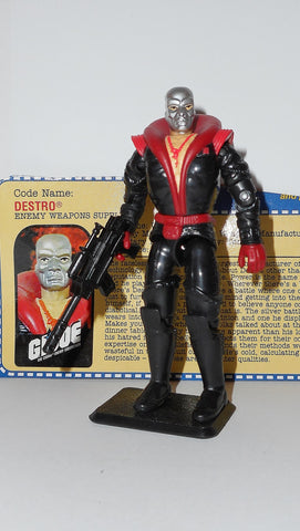 gi joe DESTRO 2001 v6 ARAH a real american hero Complete