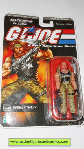 gi joe OUTBACK 2008 DTC club exclusive action figures hasbro direct moc mip mib