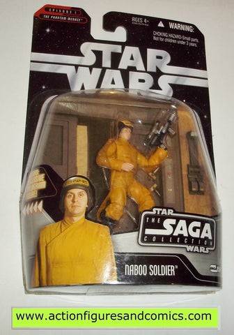 star wars action figures NABOO SOLDIER battle of naboo Saga moc mip mib