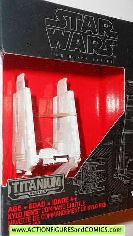 star wars titanium KYLO REN's COMMAND SHUTTLE the black series 2015 WHITE 03 3 moc mib