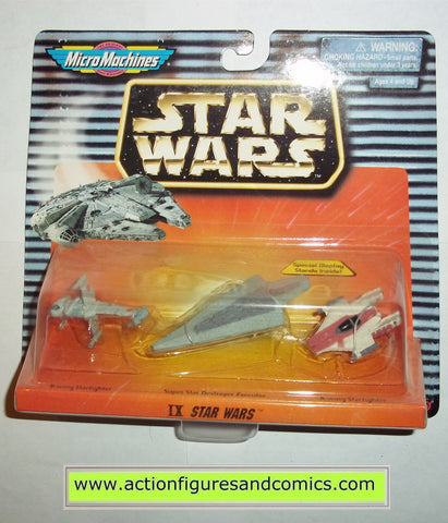 star wars micro machines IX 9 collection A-WING SUPER STAR DESTROYER EXECUTOR B-WING STARFIGHTER galoob hasbro toys moc mip mib