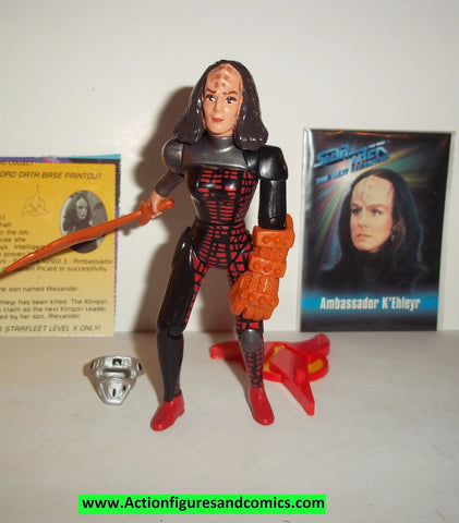 Star Trek AMBASSADOR K'EHLEYR variant ORANGE WEAPONS 1994 playmates complete action figures