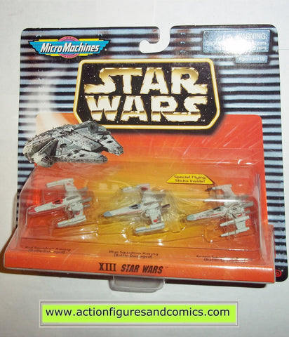 star wars micro machines XIII 13 collection X-WING FIGHTER red blue green galoob hasbro toys moc mip mib