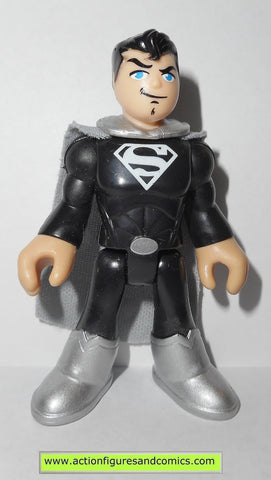 DC imaginext SUPERMAN black silver fisher price justice league super friends