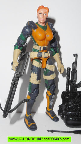 gi joe SCARLETT 2002 v7 agent g i vs cobra action figures scarlet red gijoe nofc