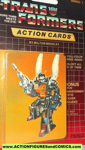 Transformers action cards INSECTICON KICKBACK grasshopper insect bug trading card 1985