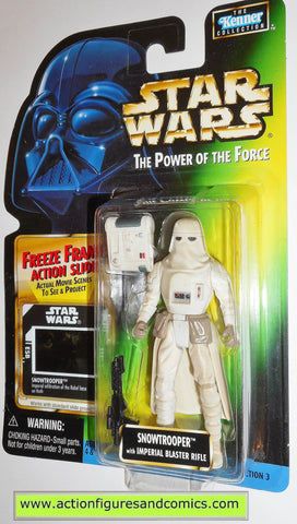 star wars action figures SNOWTROOPER freeze frame power of the force moc