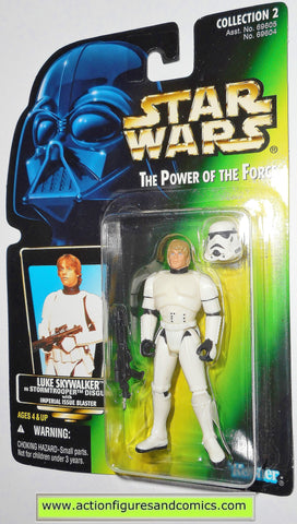 star wars action figures LUKE SKYWALKER STORMTROOPER power of the force .01 hasbro toys moc
