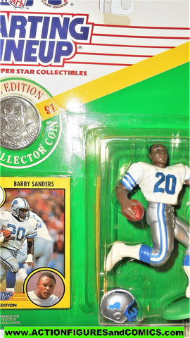 Starting Lineup BARRY SANDERS 1991 COIN detroit lions football sports moc