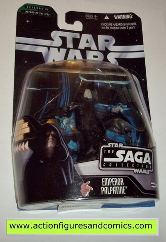 star wars action figures EMPEROR PALPATINE battle of endor Saga moc mip mib