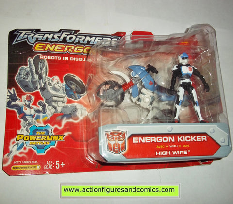 Transformers energon KICKER & HIGH WIRE 2004 Hasbro toys action figures moc