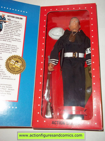Gi joe ACTION SAILOR 12 inch commemorative wwII 50th anniversary brown hair mib moc mip vintage