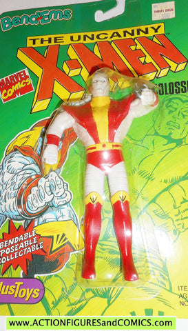 marvel super heroes COLOSSUS X-MEN 1991 bend ems justoys action figures moc 00
