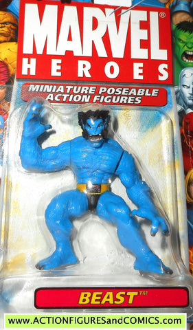 Marvel Heroes BEAST 2.5 inch miniature poseable action figures 2005 X-men toy biz universe moc