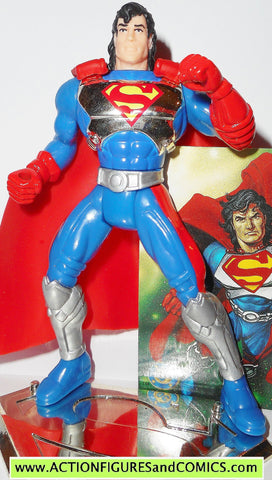 Superman Man of Steel CYBER LINK CHROME CHEST variant kenner card action figures