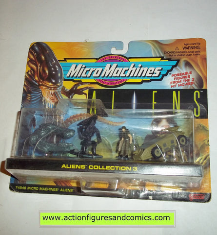 Aliens vs Predator micromachines QUEEN ALIEN HICKS DERELICT SHIP collection 3 1996 galoob complete