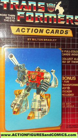Transformers action cards DINOBOT SLUDGE Brontosaurus dinosaur trading card 1985