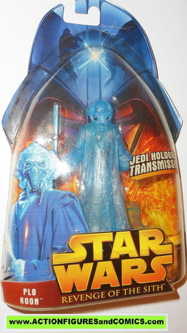 star wars action figures PLO KOON hologram holographic 2005 revenge of the sith moc