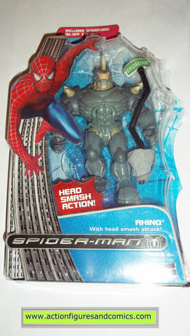 Spider-man movie RHINO head smash attack action marvel legends moc mip mib