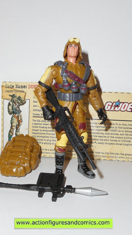 gi joe DUSTY 2002 v8 complete g i vs cobra action figures hasbro toys fc