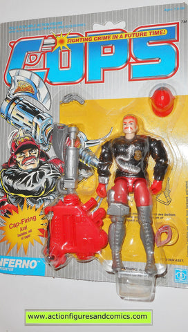 Cops 'n Crooks INFERNO c.o.p.s. hasbro toys 1988 vintage action figures moc