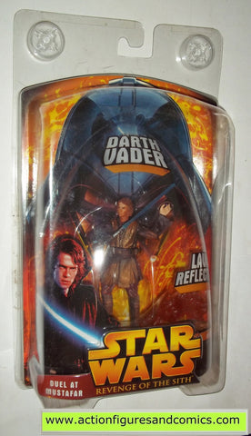 star wars action figures ANAKIN SKYWALKER duel at mustafar lava reflection 2005 revenge of the sith hasbro toys moc mip mib