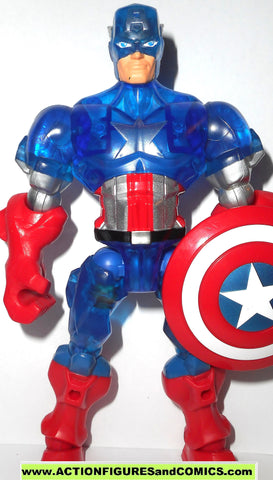 Marvel Super Hero Mashers CAPTAIN AMERICA translucent 6 inch universe action figure
