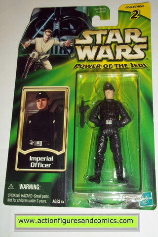 star wars action figures IMPERIAL OFFICER 2000 power of the jedi hasbro toys moc